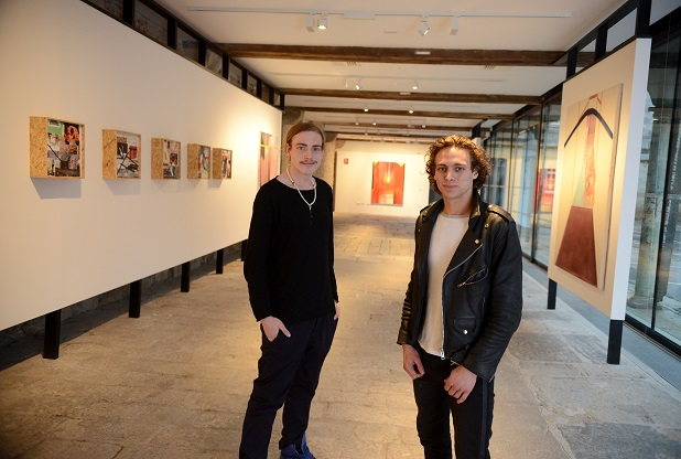 21/01/2016 Pic by: Penny Cross Plymouth Culture's updates for cultural develpment in the city. Artists Andy Meredith and Luke Walder in their exhibition space at Ocean Studios, Royal William Yard. Pictured: Artists  Rhys Morgan and Jack Carberry-Todd who have their exhibition Fugue State on at Ocean Studios untill 7th February. Funded by Arts Council England  Contact: Joe Meldrum or Andy Meredith   07535 070283 / 07712743036 Reporter: Sarah Waddington